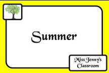 Theme: Summer / Ideas for teaching about summer and summer activities in the classroom or at home with the kids.