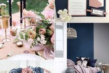 Wedding inspiration 2018 / Inspiration and ideas based on 2018 wedding trends, including colour schemes, dresses and decor