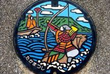 Manhole Cover Art - Japan