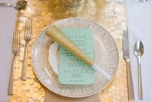 Mint and Gold Weddings
