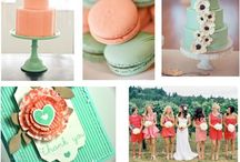 Mint and coral wedding