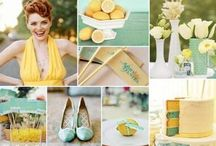 Yellow and mint wedding