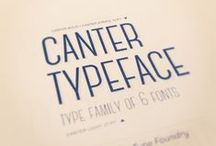 Type and Typography / What can we say...we LOVE type!