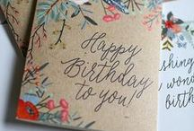 birthdays & celebration ideas / Inspiration for cards, gift tags and wrapping