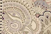 doodling, zentangle