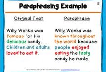 Summarizing and Paraphrasing / Ideas and inspiration for teaching elementary students how to summarize and paraphrase.