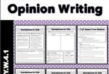 Writing - Opinion / Ideas and inspiration for teaching elementary students about opinion writing.