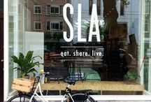 SLA / We know food can be dangerously irresistible. That's why all you'll find at SLA are salads, juices, soups and snacks so full of flavor you'd forget they're hearty and healthy, too. Bringing the best of both worlds, without the frills. We just eat.