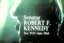 """Robert F. Kennedy, an apostle of change / Robert F. """"Bobby"""" Kennedy (November 20, 1925 – June 6, 1968) was a Democratic Party politician from Massachusetts. He was the 64th U.S. Attorney General (1961 to 1964) and Senator for New York (1965 - 1968).  He was a leading candidate for the Democratic presidential nomination in the 1968 election. In 1968, Kennedy campaigned for the presidency and was a leading Democratic candidate, appealing particularly to black and Hispanic voters. He was shot on June 5 and died the following day. / by Sylvie Auger"""