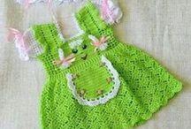 Vestidos, faldas, canesús a Crochet / Vestidos, faldas y canesús para bebés y niñas a Crochet. / by Cristina Sanhueza Ovalle