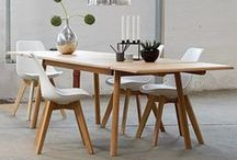 Dining tables and chairs as well as coordinating furniture / Elegant dining furniture and accessories, inspiration to create the perfect home