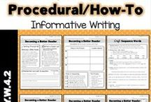 """Writing - Procedural/How-To / Ideas and inspiration for writing """"how to"""" paragraphs and essays."""