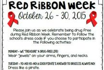 Red Ribbon Week / Ideas and inspiration for teaching students about Red Ribbon Week.