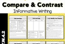 Writing - Compare & Contrast / Ideas and inspiration for teaching elementary students how to compare and contrast.