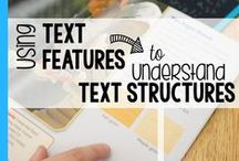 Reading - Text Features / Ideas and inspiration for teaching text features.