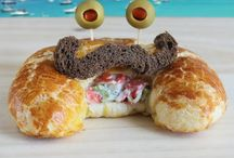 Cute Food / Cute Food, Sandwich Art, Food Art, Sandwich Monsters