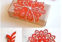 DIY gift wrapping and boxes