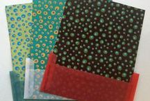 Stationery not Stationary / Stationery ideas using handmade decorative papers, laces, cool patterns and prints.