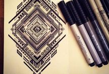 DIY: doodle inspiration / ...about drawing ideas and paperwork...