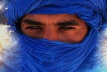 Touareg / 'The Blue People of the Sahara' - Berber people with a traditionally nomadic lifestyle / by Sylvia van Soest