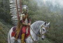 Polish Winged Hussars / The Polish Hussars were one of the main types of the cavalry in the Crown of the Kingdom of Poland between the 16th and 18th centuries. It was one of the best cavalry in the world.