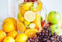 Detox Fruits / Vibrant mixtures of detox fruits for your water, juices, and smoothies to help you burn fat and cleanse your body!
