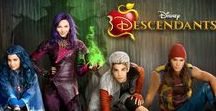 Descendants (2015) / A present-day idyllic kingdom where the benevolent teenage son of King Adam and Queen Belle offers a chance of redemption for the trouble making offspring of Disney's classic villains: Cruella De Vil Carlos (Cameron Boyce), Maleficent Mal (Dove Cameron), the Evil Queen Evie (Sofia Carson) and Jafar Jay (Booboo Stewart).