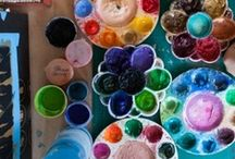 Art Studio Inspiration / Inspiring photos of artist studios and interesting displays/uses of art supplies