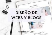 Diseño de blogs y web / Blog and web design by Three Feelings