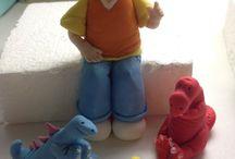 Fondant figurines and cake toppers. Sokerimassa hahmot. / Fondant figures