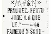 → Typographie / Inspirations de procédés d'impression des caractères. #typography #font #art  #design #graphic  / by Anais Bazaline