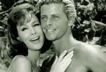 """Ride the Wild Surf / Shots of Barbara from the 1964 film, Ride the Wild Surf. Barbara dyed her hair dark red for this fun beach movie.  You can purchase """"Ride the Wild Surf"""" on DVD (Region 1) from Amazon: http://tinyurl.com/lqb55d3"""