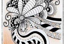 Zentangle / Tangles Doodles Zentangle