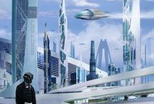 Writing Sci Fi / Here's to flying cars, space travel, and, futuristic architecture. And of course, the changes in us as technology grows.