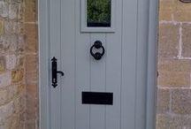 Cottage doors / Cottage style doors framed ledged painted and european oak