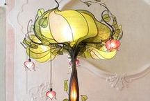 Vintage Lamps & Mirrors