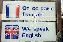 Causons la France bien ! / Un tableau humoristique réunissant une collection de documents truffés de fautes de français.