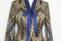 damespak vlisco stof / Een dames pak op maat gemaakt van Vlisco stof