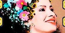 Quadrinhos em Azulejos Cantoras Brasileiras / Quadrinhos confeccionados em Azulejo no tamanho 15x15 cm.Tem um ganchinho no verso para fixar na parede. Inspirados em Divas da MPB. Para entrar em contato conosco, acesse: www.babadocerto.com.br