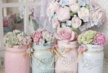 Shabby Chic Interior / Who doesn't love a sprinkling bit of shabby chic throughout the home?