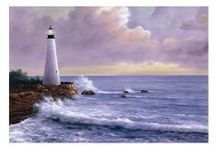 Lighthouses PaintIng Art