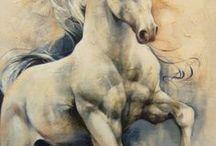 Horses Painting Art