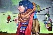 Art StreetArt - Installation / Art that makes me happy even if it rains / by Grace Irene