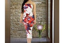 Midi Dresses / Find white, black, red, floral, lace, bodycon, strapless, long & short sleeve midi dresses for women.