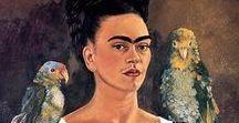 We love Frida! / Frida Khalo paintings, photos, dolls to ispire creation of my new doll.  #frida khalo #Fridadoll #Fridakhalopaintigs #fridaphotography
