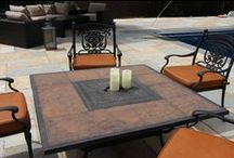 Outdoor / Ultrafabrics products highlighted on outdoor furniture and furnishings.