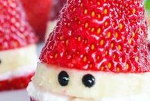 Christmas Kid Food Ideas / Christmas Food and Snack Ideas for kids, mostly healthy but the odd treat as well