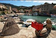BIENVENUE   Corsica / Op dit bord nemen we je mee op een virtuele rondreis door Corsica. De Fransen en Corsicanen spreken van 'Ile de Beauté', oftewel eiland van schoonheid. Het meest opvallend aan het eiland is de afwisselende natuur. Zo zijn er prachtige zandstranden, grillige rotsformaties en krijtrotsen. Heb je al zin om naar Corsica te gaan? http://www.pharosreizen.nl/autovakantie/frankrijk/corsica