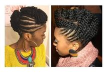 Braided and Twisted Natural Hair Up-dos / Braided and Twisted Natural Hair Up-dos