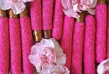Pretty In Pink /  In honor of Breast Cancer Awareness month, we're donating 50% of sales from our 'Pretty In Pink' pretzels to the Breast Cancer Research Foundation.  Here is a collection of our favorite pink EVERYTHING... <3 / by Fatty Sundays